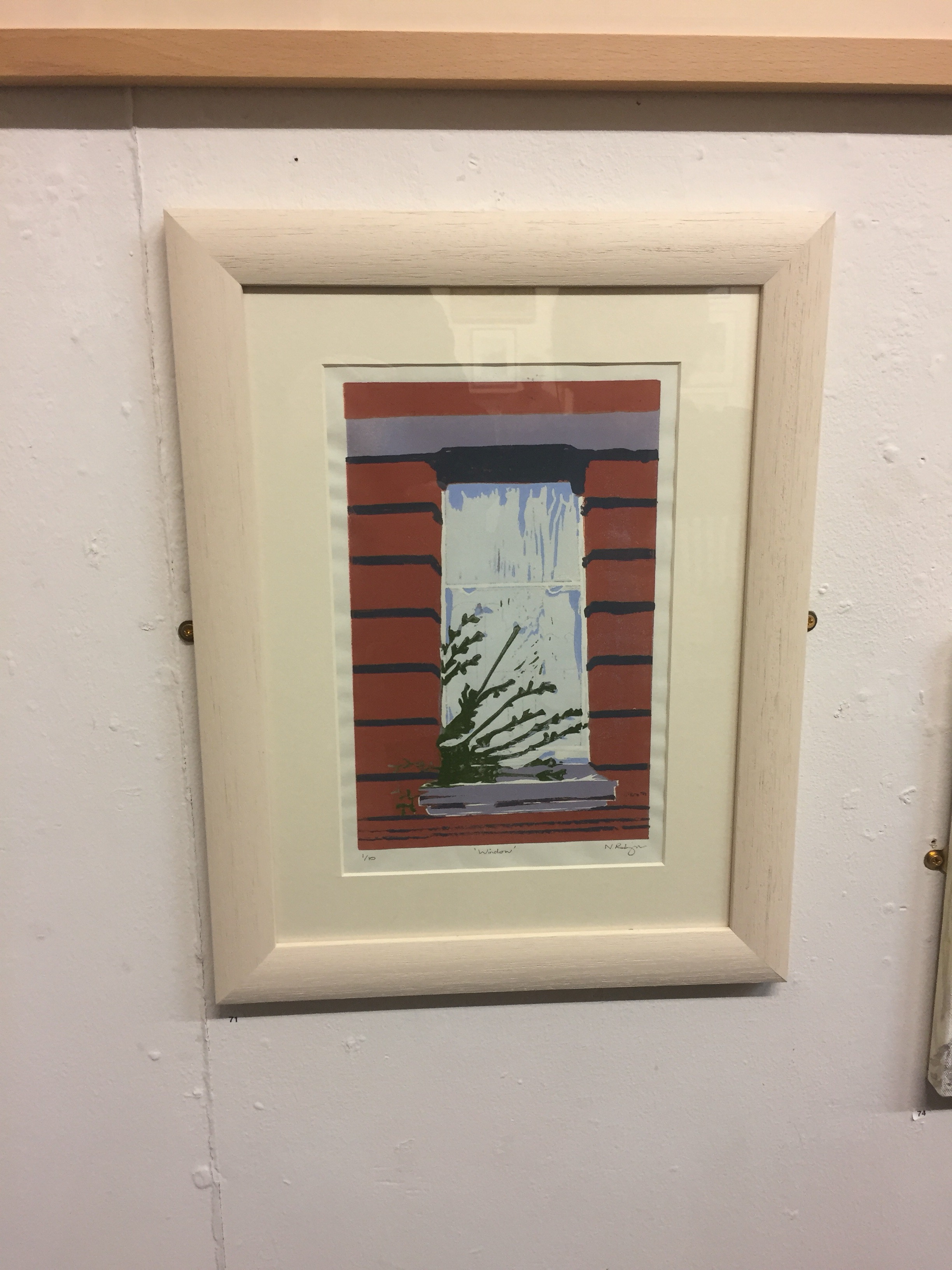 """Window"" by Neil Robinson (Linocut)"