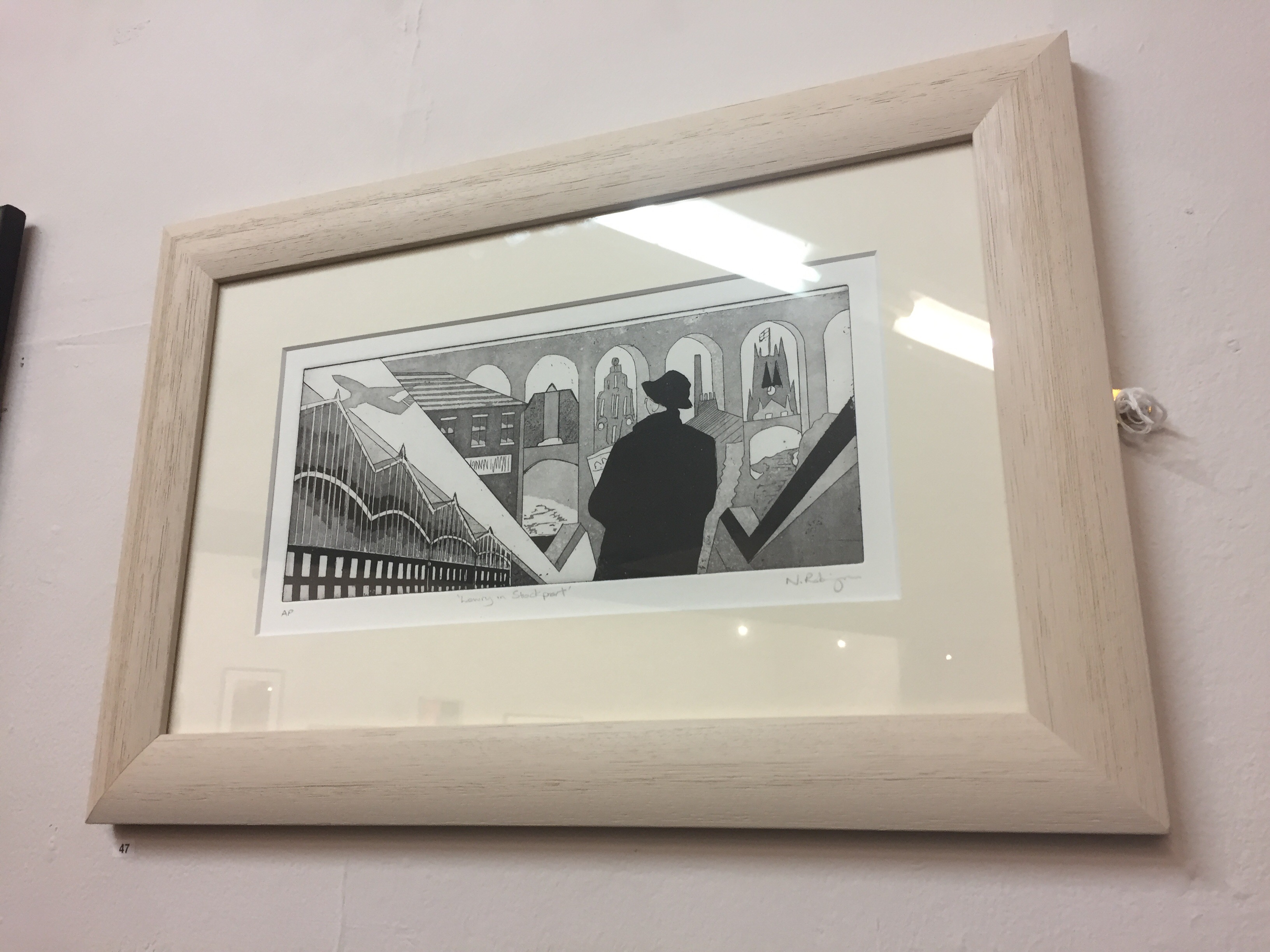"""Lowry in Stockport"" by Neil Robinson (Etching Aquatint)"