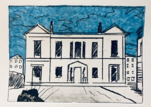The old workhouse building (St. Thomas's Hospital) Dry point