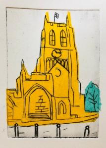 St. Mary's church dry point