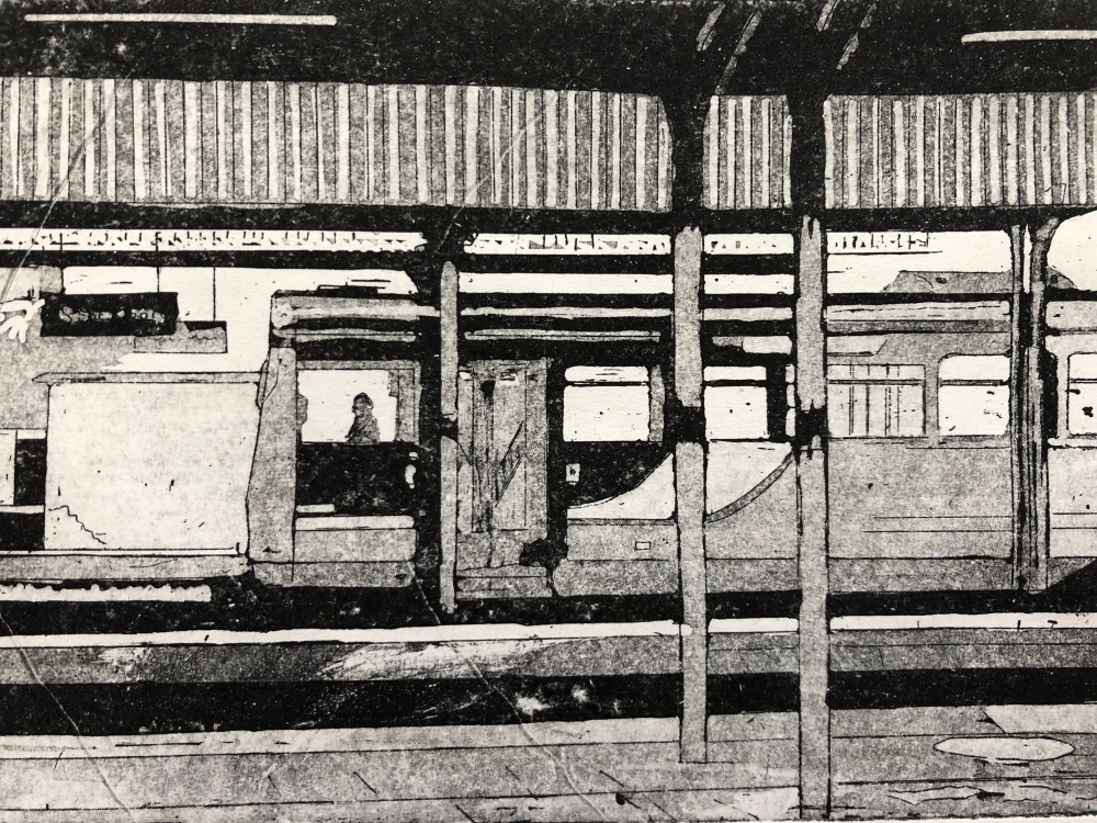 'The Pacer', Etching Aquatint