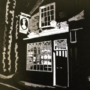 Queens Head pub (Etching Aquatint)