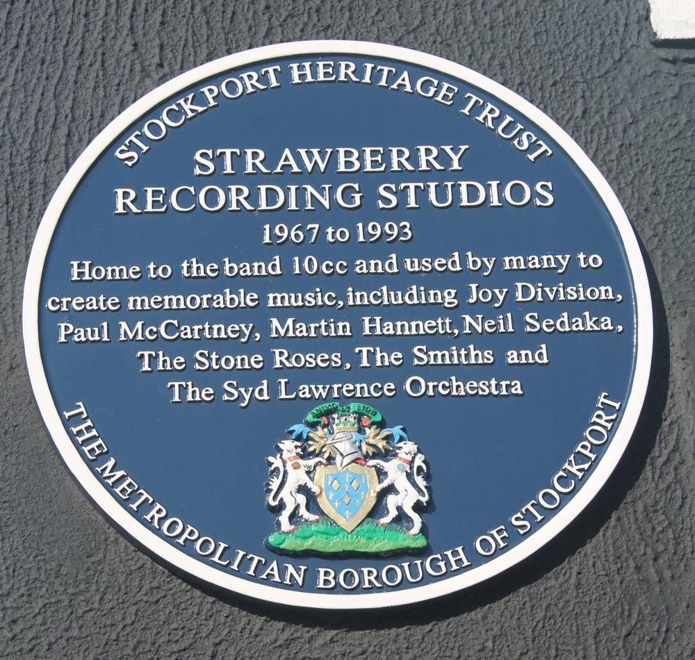Strawberry Studios Stockport blue plaque
